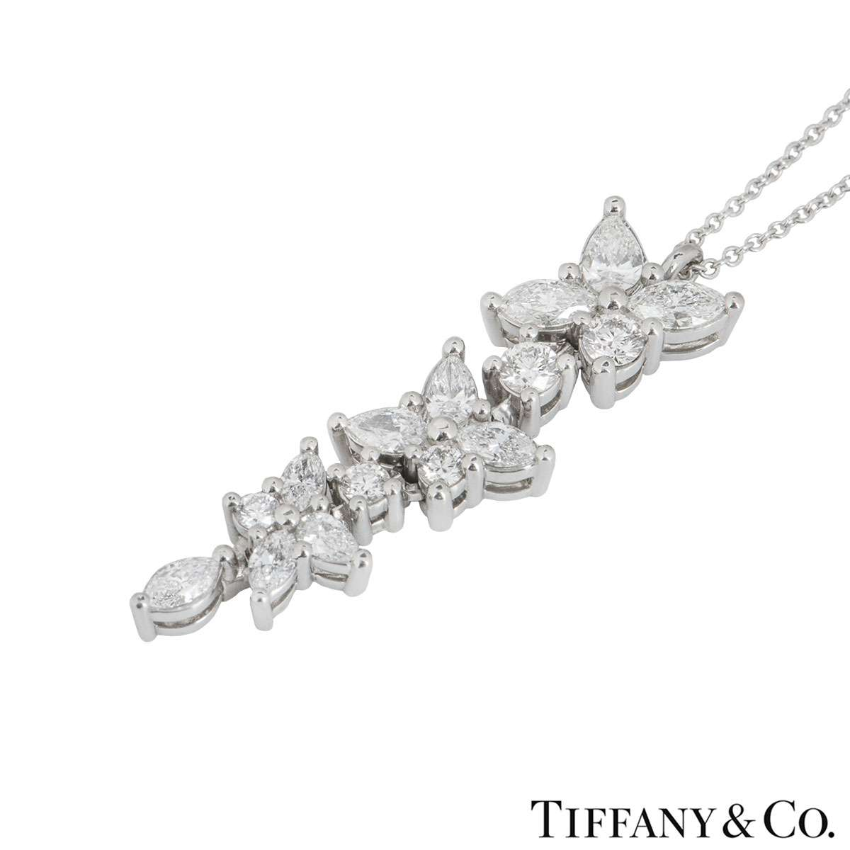 Tiffany & Co. Platinum Diamond Victoria Pendant